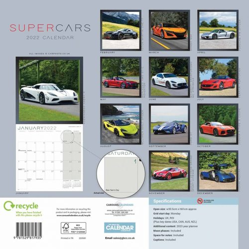 Supercars Calendar 2022-back