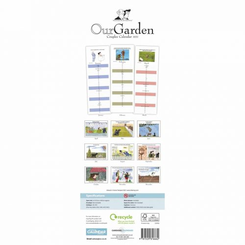 Tottering By Gently, Our Garden Couples Slim Planner 2022-back