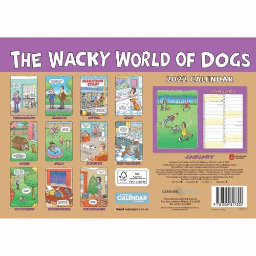 Wacky World of Dogs A4 Calendar 2022-back
