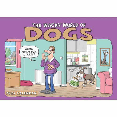 Wacky World of Dogs A4 Calendar 2022-front