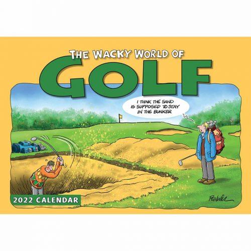 Wacky World of Golf A4 Calendar 2022-front