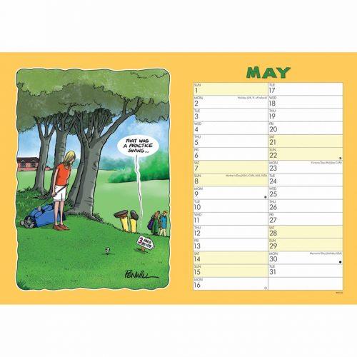 Wacky World of Golf A4 Calendar 2022-inside