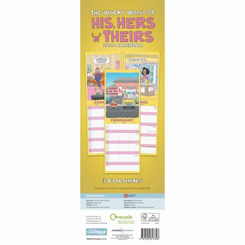 Wacky World of His, Hers 'N' Theirs Slim Family Planner 2022-back