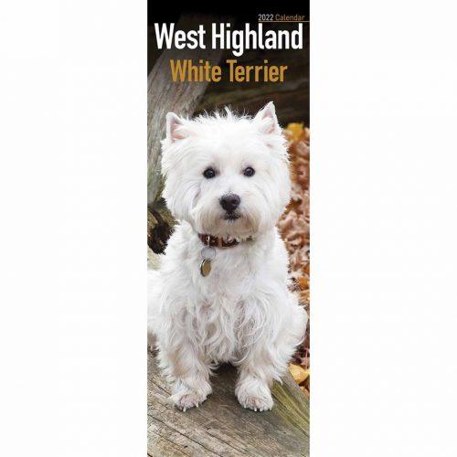 West Highland White Terrier Slim Calendar 2022-front