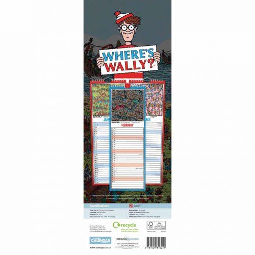 Where's Wally Slim Calendar 2022-back