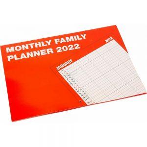 2022 Monthly Family Planner Organiser-front